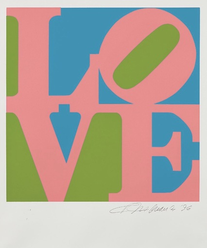 Robert INDIANA - Estampe-Multiple - Love #8 (from the Book of Love)
