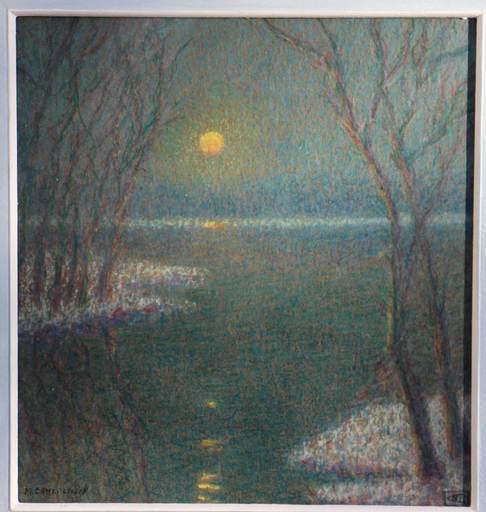 Louis CAMERLYNCKX - Dessin-Aquarelle - ondergaande zon