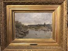 Adolphe APPIAN - Painting - Marais dans le département de l'Ain