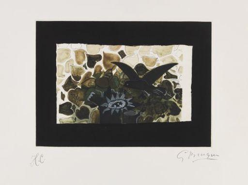 Georges BRAQUE - Grabado - Le nid vert