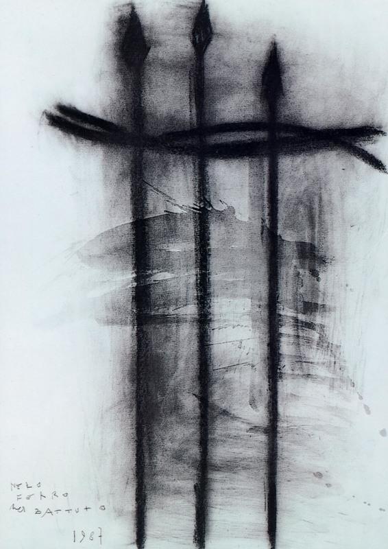 Piero PIZZI CANNELLA - Gemälde - NERO FERRO BATTUTO