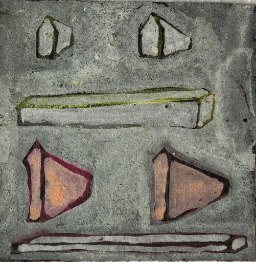 Ugo RONDINONE - Peinture - UNTITLED - 104 PARTS -  APRIL - MAI 1985
