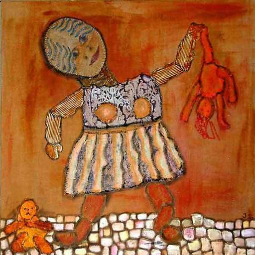 Jacotte SIBRE - Peinture - Vilaine poupée