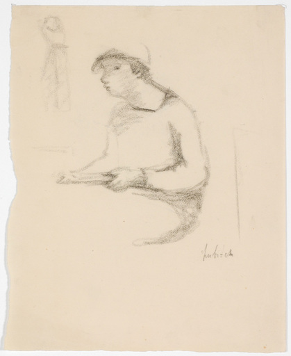 Ossip LUBITCH - Dessin-Aquarelle - Study of a Woman, 1930s