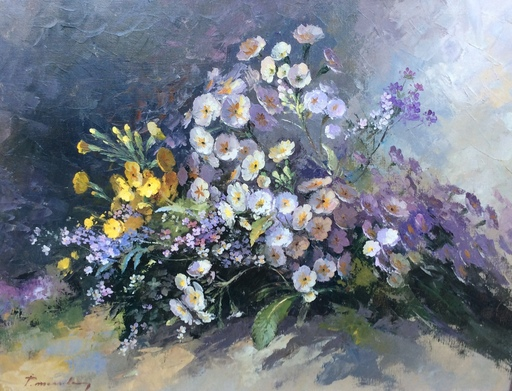 Paul MESSELY - Painting - Bloemen