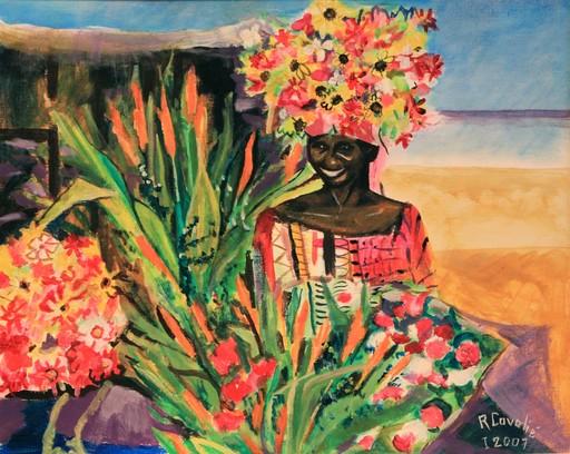 R.CAVALIÉ - Peinture - Dakar. Marché Kermel.
