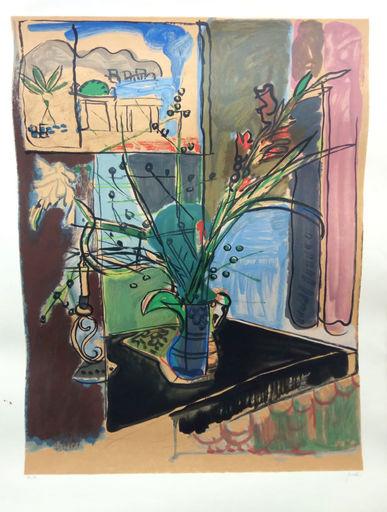 Yehezkel STREICHMAN - Stampa Multiplo - Flowers by the Window