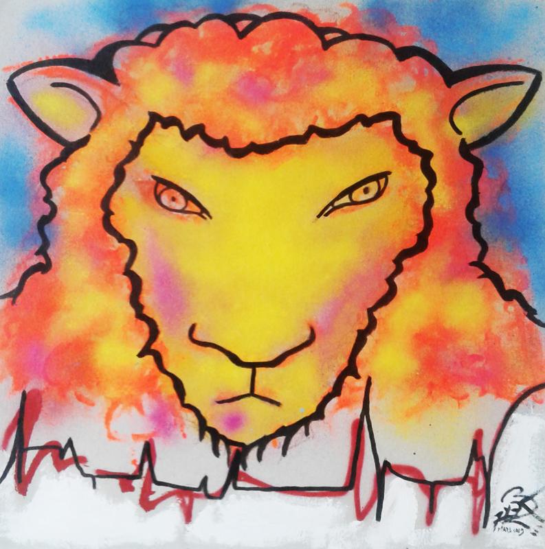 Mounya KECHA - Dibujo Acuarela - No Title    (Cat N° 6363)
