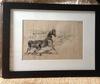 "Ulpiano CHECA Y SANZ - Drawing-Watercolor - ""Cheval de fer"" Caballo - Horse"