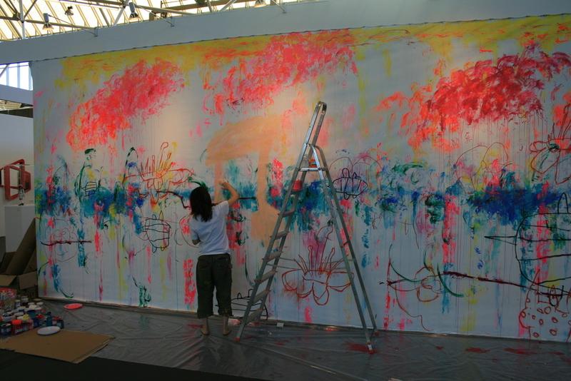 Ayako ROKKAKU - Fotografia - Ayako painting live at Art Amsterdam