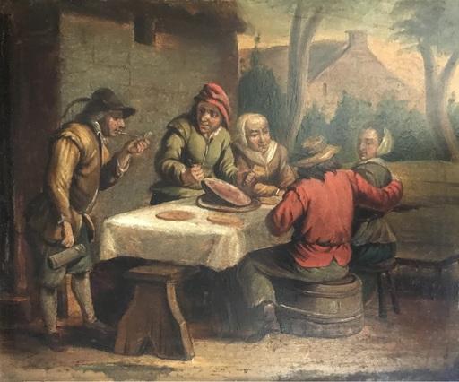 David II TENIERS - Gemälde - Lunch with ham at the Inn