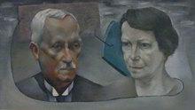 Henri GOETZ - Pittura - Portrait des parents de Christine Boumeester