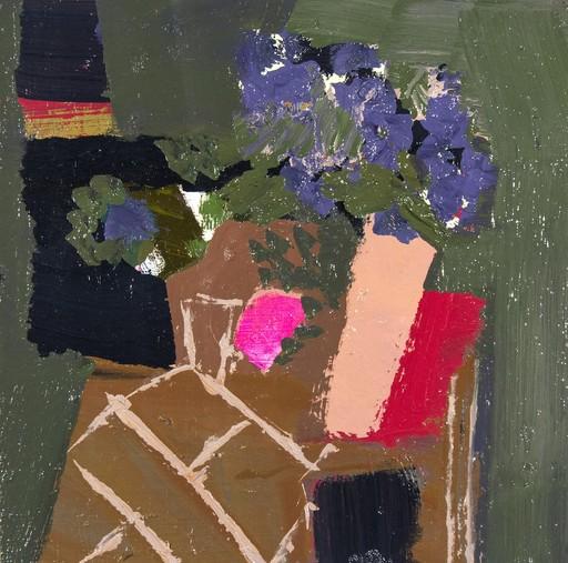 Jennifer HORNYAK - Pintura - Hyacinth Blue with Black