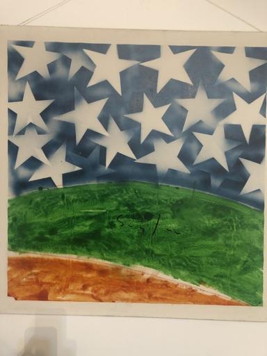 Mario SCHIFANO - Gemälde - Cielo stellato