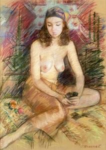 Boris Anatolievich SHOLOKOV - Dibujo Acuarela - The Fortune Teller