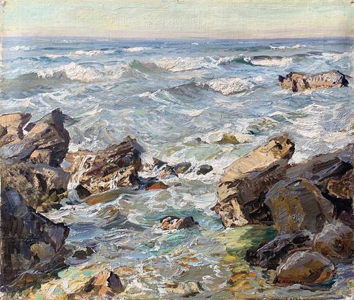 Carlo PERINDANI - Pittura - Mareggiata sulla scogliera