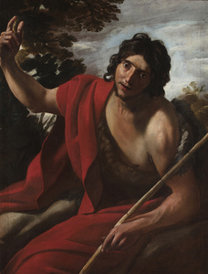 Giovanni LANFRANCO - Painting - Saint John the Baptist