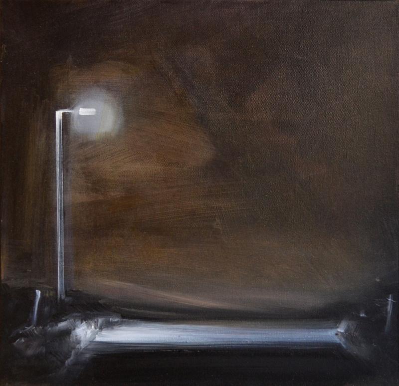 Sigrid NIENSTEDT - Painting - Laternenlicht, kleine Version I