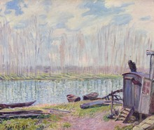 Alfred SISLEY - Painting - Bords du Loing