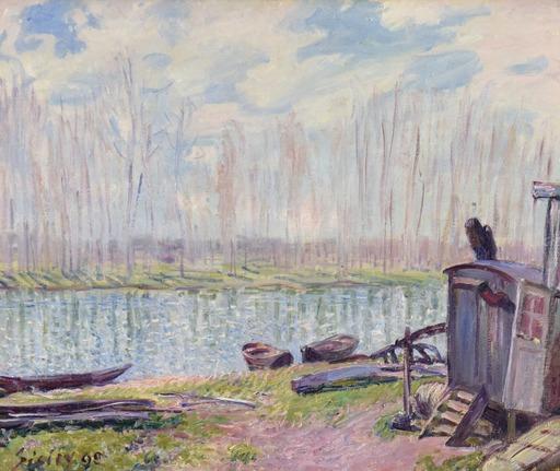 阿尔弗莱德•西斯莱 - 绘画 - Bords du Loing