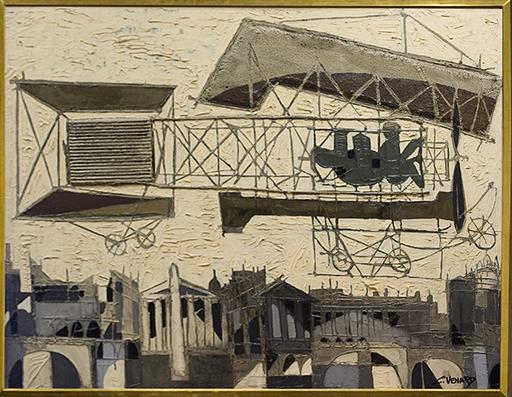 Claude VENARD - Peinture - Biplan