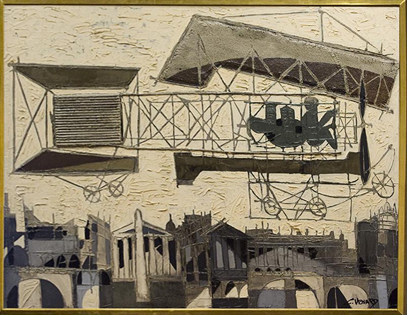 Claude VENARD - Gemälde - Biplan