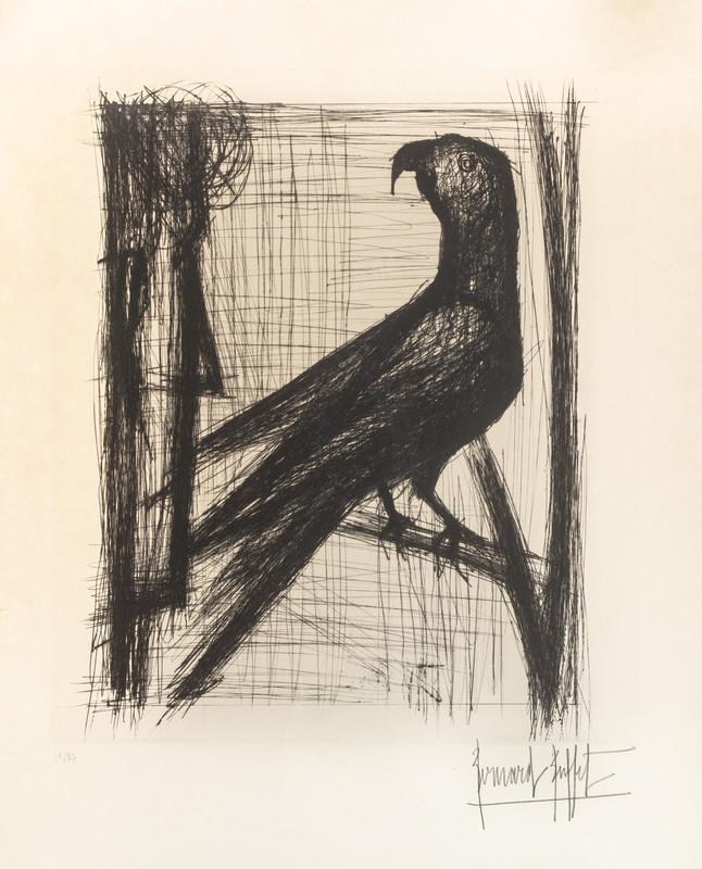 Bernard BUFFET - Print-Multiple - Homme et perroquet