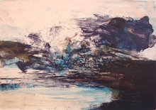 ZAO Wou-Ki - Grabado - Untitled (Composition in Blue)