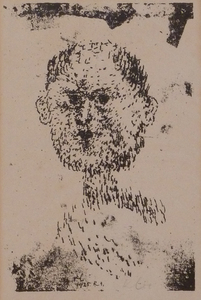 Paul KLEE, Bearded Head / Kopf (Bärtiger Mann)