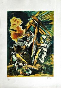 Renato GUTTUSO - 版画 -  Addio alle Armi Omaggio a Hemingway_2