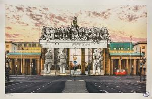 JR - Estampe-Multiple - Giants, Brandenburg Gate, September 27, 2018, 18h55