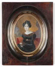 """Louis François AUBRY - Miniature - """"Portrait of a young lady"""""""