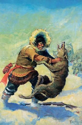 Walter Martin BAUMHOFER - Pintura - Untitled - The Wolf Attack