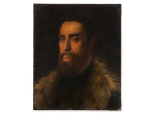 TIZIANO VECELLIO, Man in a Fur Trimmed Coat