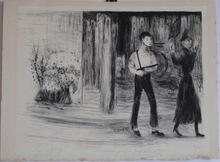 Edouard Joseph GOERG - Grabado - LITHOGRAPHIE 1945 SIGNÉE CRAYON NUM/15 HANDSIGNED LITHOGRAPH