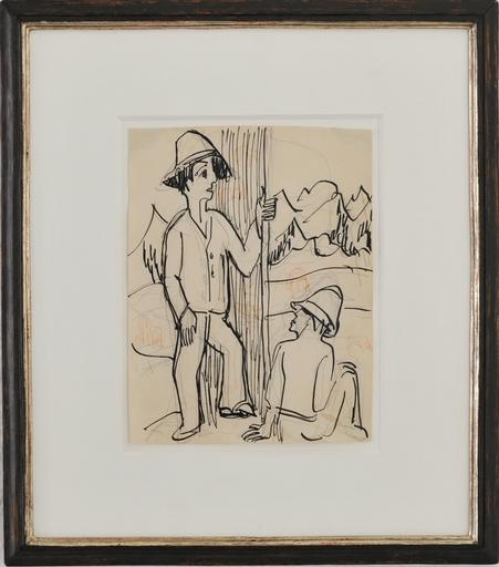 Ernst Ludwig KIRCHNER - Disegno Acquarello - Hirten