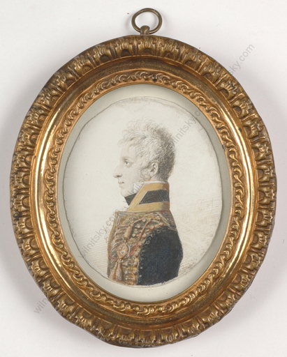 "Christoph HALLER VON HALLERSTEIN - Miniatur - ""German Hussar officer from Napoleonic Wars"", miniature, 180"