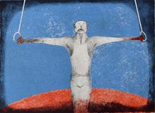 鲁菲诺•塔马约 - 版画 - The Iron Cross (The Gymnast)
