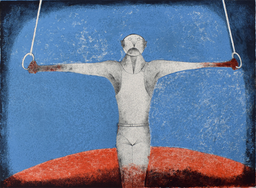 Rufino TAMAYO - Estampe-Multiple - The Iron Cross (The Gymnast)