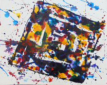 Sam FRANCIS - Pittura - Untitled SF76-214 (Rhombus Composition)
