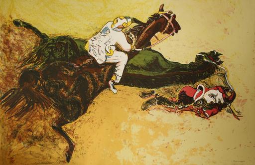 Norbert TADEUSZ - Grabado - Pferderennen