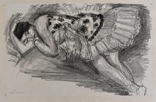 亨利·马蒂斯 - 版画 - Dancer Asleep on the Sofa, from: Ten Dancers