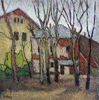 Valeriy NESTEROV - Pittura - Moscow. Gzhelskiy Lane yard