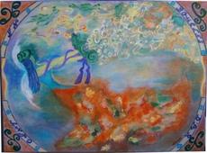 ATCHAMA - Painting - En boucles d'argent