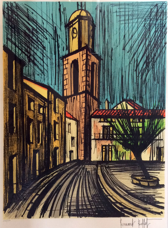 Bernard BUFFET - Print-Multiple - Saint-Tropez, place de l'Ormeau