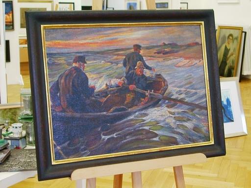 August Vilhelm DENCKER - Painting - Fischerboot