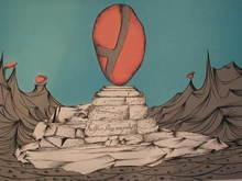 """Félix LABISSE - Grabado - """"Le Monument"""" 1975"""