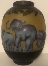 Émile GALLÉ - Vaso in vetro elefanti