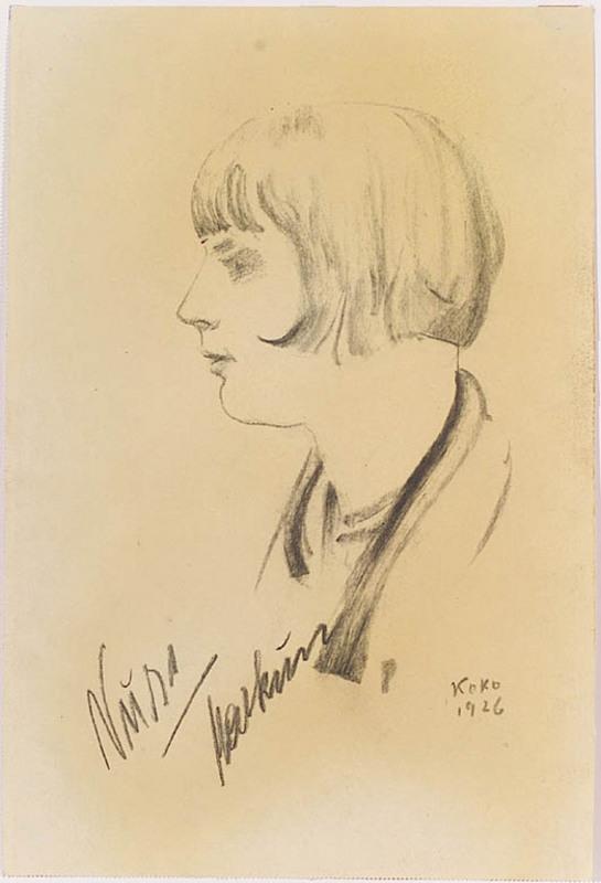 "Friedrich Albin KOKO-MIKOLETSKY - Zeichnung Aquarell - ""Female Portrait"", 1926"