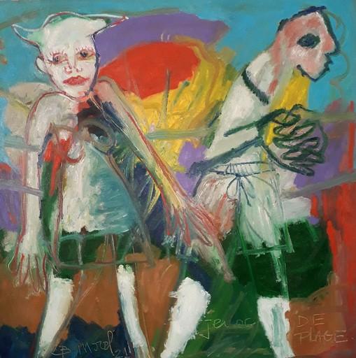 Bernard MOREL - Pintura - JEUX DE PLAGE...DINARD...